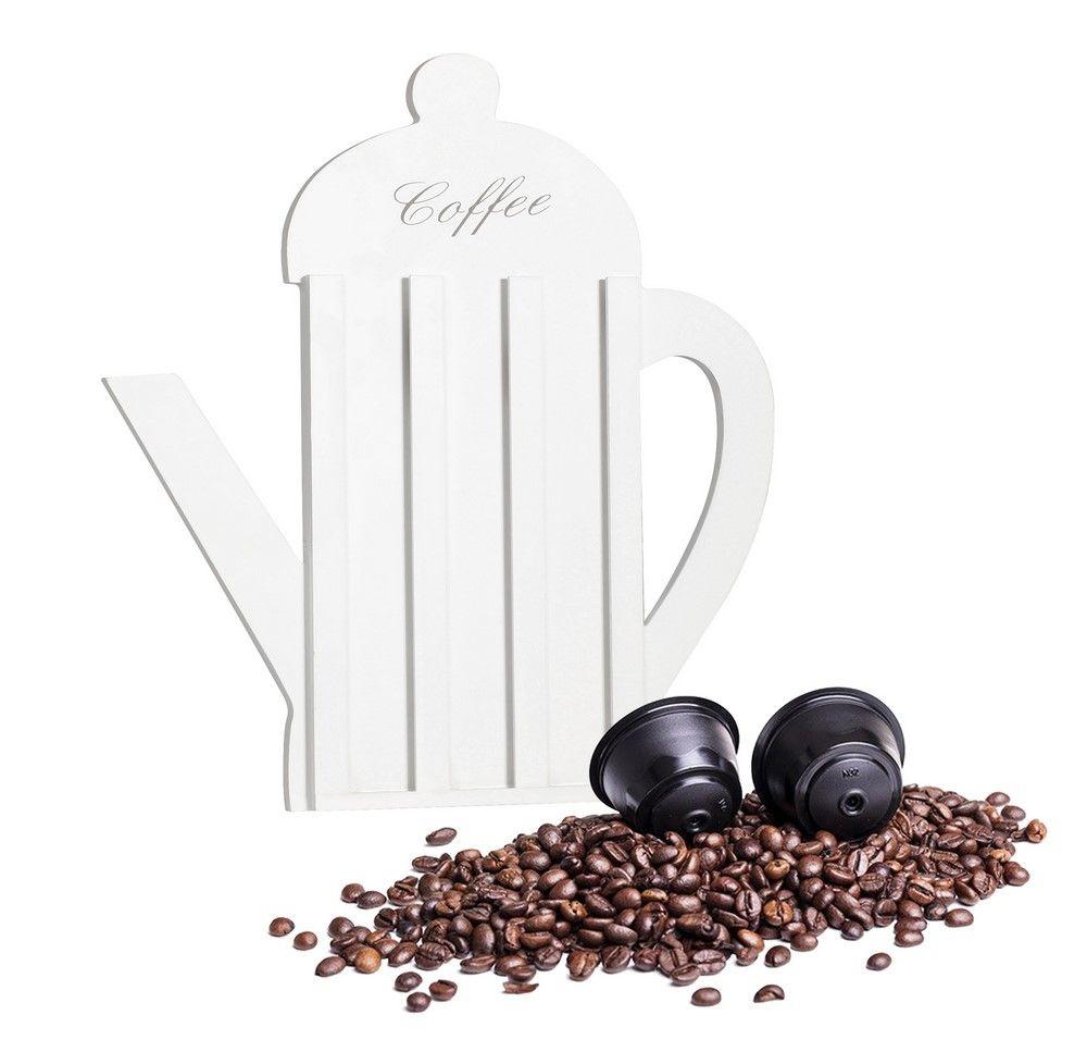 Držák na kávové kapsle, dřevo