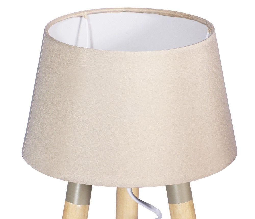 Stolní lampa 30 cm, trojnožka, béžová