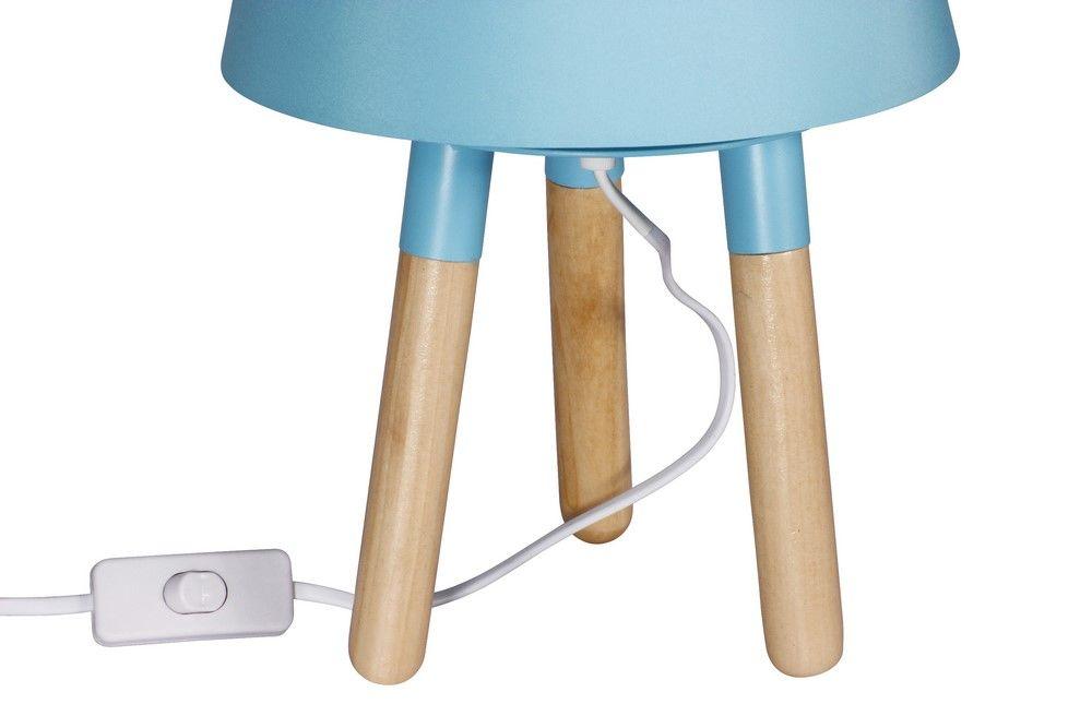 Stolní lampa 30 cm, trojnožka, modrá