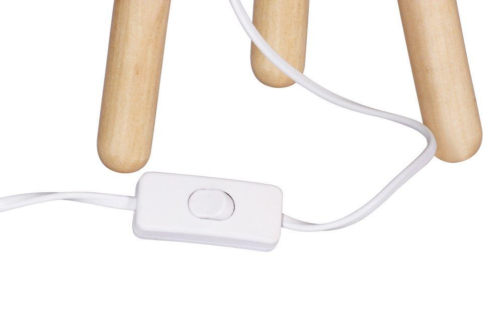 Stolní lampa 30 cm, trojnožka, bílá