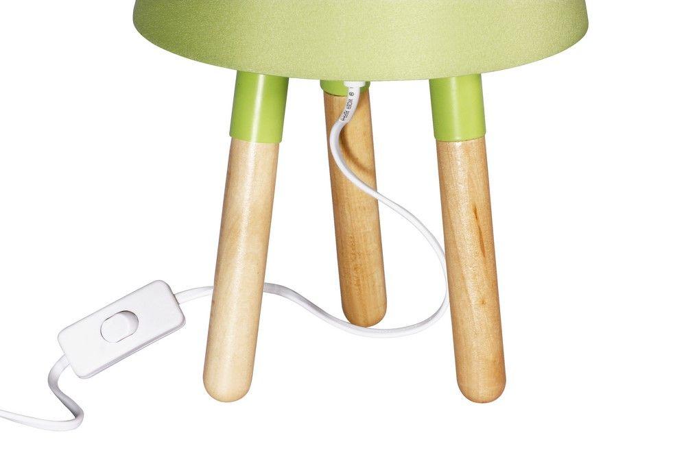 Stolní lampa 30 cm, trojnožka, zelená
