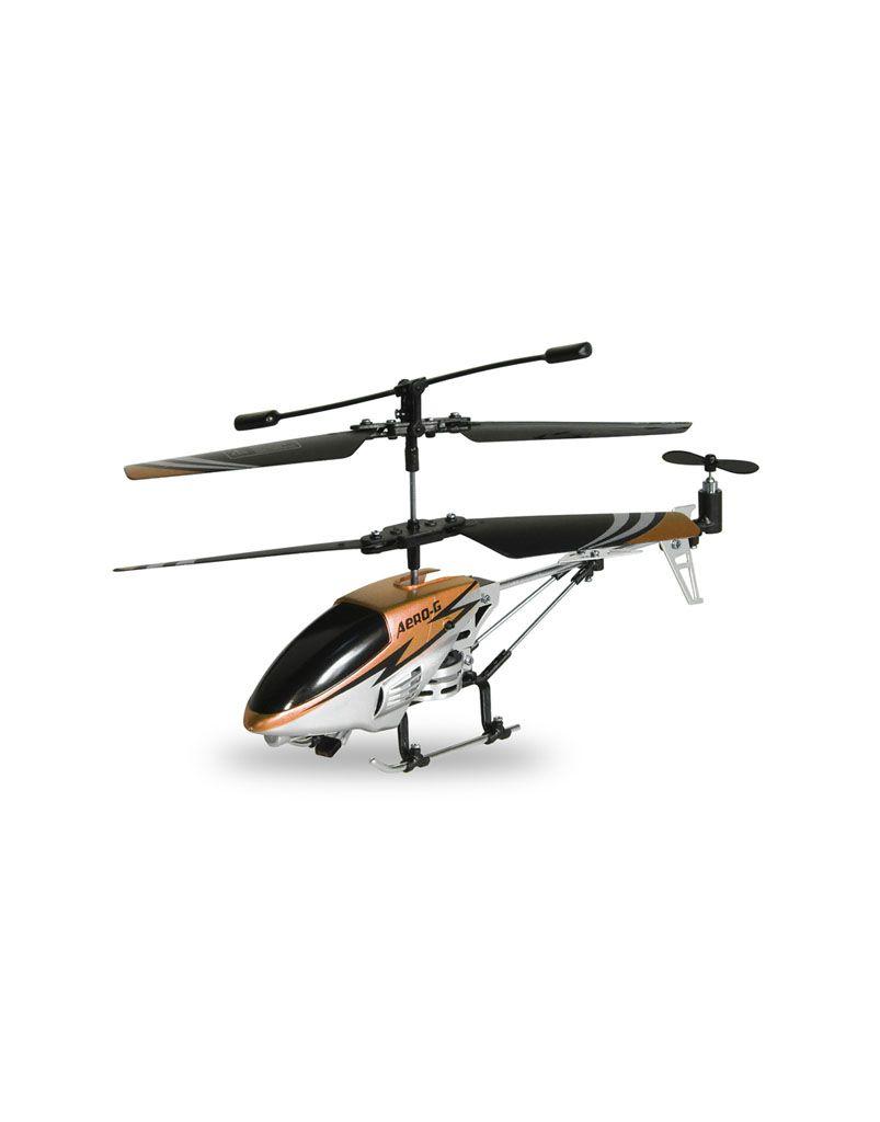 RC helikoptéra, žlutá