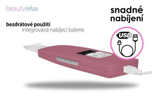 Kosmetický přístroj BeautyRelax ultrazvukový růžový