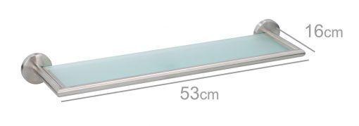 Polička do koupelny Timelife 54x5,7x14cm