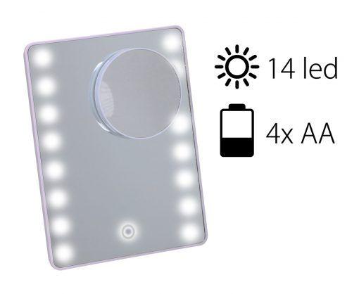 Kosmetické zrcátko na líčení Timelife 16 LED světlá