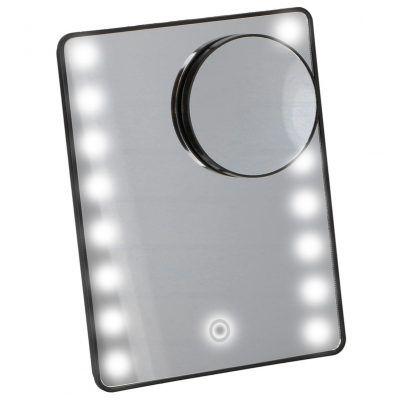 Kosmetické zrcátko na líčení Timelife 16 LED tmavá