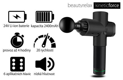 Masážní přístroj BeautyRelax Kineticforce Black Edition