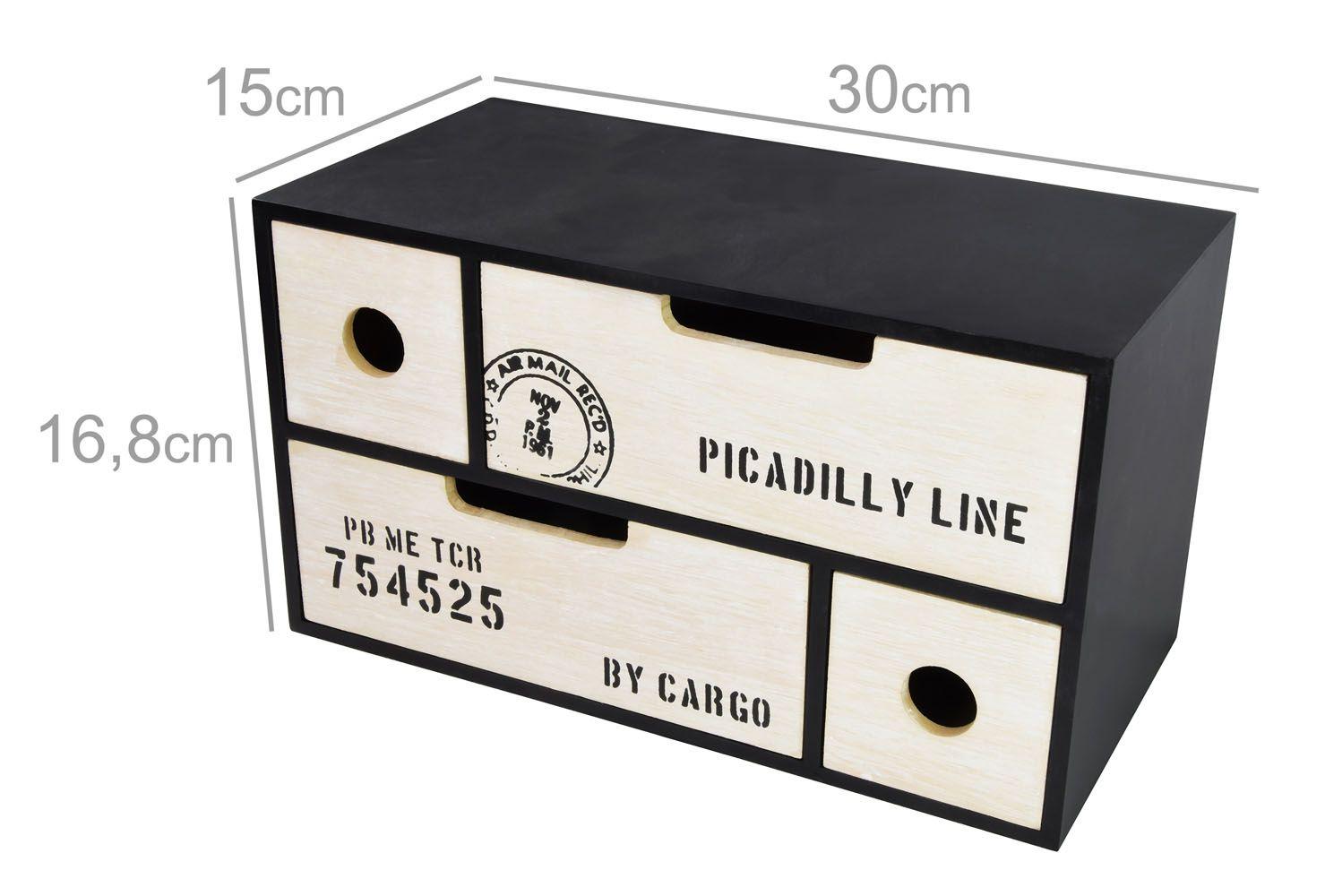 Dekorační skříňka na drobnosti Timelife 30x15x17cm MDF