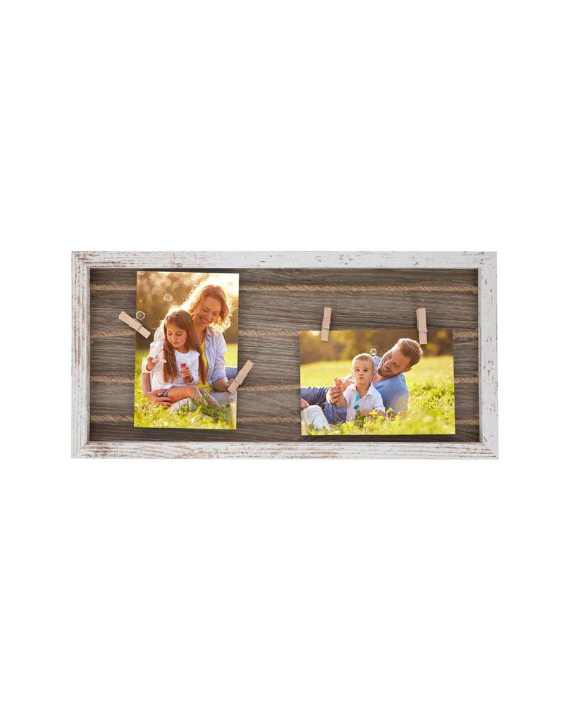 Fotorámeček Timelife 42x20x2,5cm dřevěný